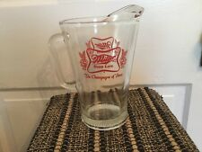 """Vintage Miller High Life """"The Champagne Of Beer� Heavy Glass Pitcher"""