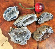 Dark Oco Geode - Natural Druzy Crystal Center BR21 Raw Geodes Crystals Stone