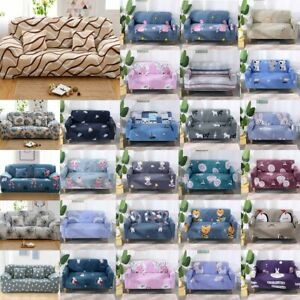 1 2 3 4 Seaters Protector Easy Stretch Sofa Cartoon Couch Cover Slipcover Decor
