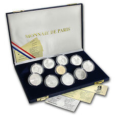 1992 France 10-Piece Set Proof Albertville Olympics - SKU #26559