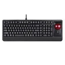 Large Trackball Mechanical Keyboard - QWERTY, Perixx PERIBOARD-522