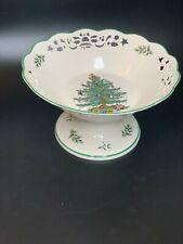 "Spode Christmas Tree - 10"" Pierced Pedestal Bowl Comport Compote"
