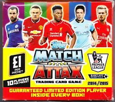 Topps Match Attax Premier League 2014-2015 Sealed Box of 50 Packets.