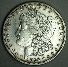 1892 S Morgan Silver Dollar United States Coin Extra Fine $1 XF #T