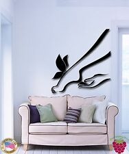 Wall Stickers Vinyl Decal Foot Leg And Butterfly Romantic Decor  (z2009)