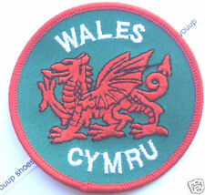 Wales Cymru Red Dragon World Embroidered Patch Badge