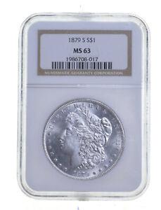 MS63 1879-S Morgan Silver Dollar - Graded NGC *239