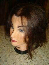 100% Human Hair DEB Makeup Cosmetology USED Practice Mannequin Head Burmax Lot F