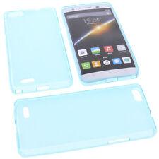 Funda para Cubot x16s Smartphone Funda protectora de móvil TPU GOMA CARCASA AZUL