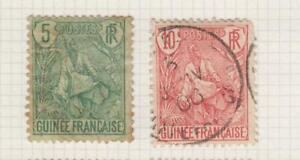GUINEE 1904 LOT 2 TIMBRES COLONIES FRANCAISES NEUF ET OBLITERE RARE