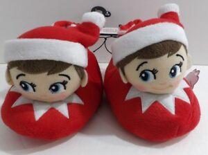 New Elf on the Shelf Toddler Boys Girls Slippers Size S 7-8