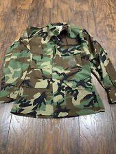 US Military Vintage Genuine Camo Shirt Authentic Camouflage Men's PRE-OWNED #7