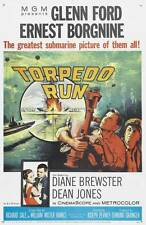 TORPEDO RUN Movie POSTER 27x40 Glenn Ford Ernest Borgnine Dean Jones Diane
