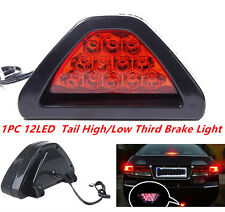 12 LED F1 Style Rear Tail Brake Stop Light Third Reverse Strobe Safety Fog DRL