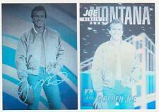 1991 Arena #1 + 1992 Arena Prototype #1A Golden Joe Montana Hologram Pair