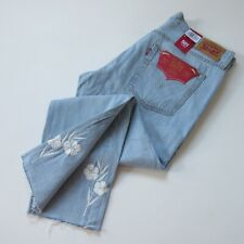 NWT Levi's 501 Taper in Oriole Floral Embroidered Boyfriend Crop Jeans 30