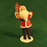 Mid Century Marked Japan Pipe Cleaner Trim Santa Claus 5.75 inches tall