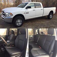 2013-2018 Dodge Ram Crew Cab Katzkin Black Leather Kit Jump Seat 2pc NEW