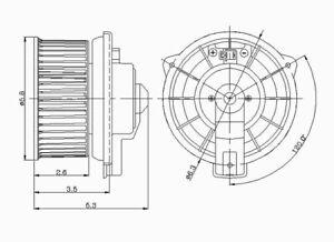 HVAC Blower Motor Front TYC 700130
