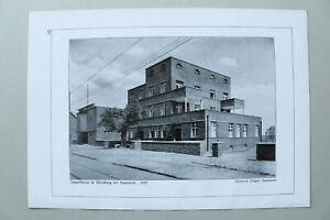 BB1) Architektur Friedrich Fischer 1928 Hannover Jugendheim in Miesburg 1927