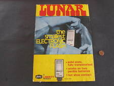 Lunar Electric Flash Camera Shop Counter Advertising Display Card