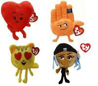 TY EMOJI HEART/HI-5/CAT & JAILBREAK SOFT PLUSH TOYS 15CM - CHOICE OF 4 TEDDY TOY