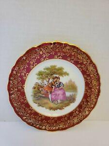 Limoges France Vintage Porcelain Small Plate 22kt gold