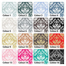 Tile Stickers Transfers Damask Baroque Vintage for Kitchen Bathroom Custom Sizes