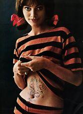 1966 Vintage 16x20 SEXY COY FEMALE FASHION Woman TATTOO Photo Art WINGATE PAINE