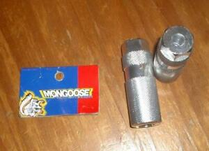 NOS 1997 Vintage Mid School BMX Alloy Axle Extenders Pegs Mongoose Front