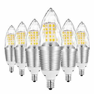 Chandelier Light Bulbs Pack of 6 LED 12W Warm White Incandescent Non-dimmable