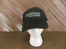 Button Dodge Ball Cap Hat Black Cotton Men's One Size Adjustable Strap