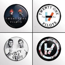 "4-Piece Twenty One Pilots (Set 3) 1"" Pinback Band Button / Pins / Badge Set"