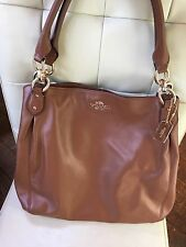 Coach Colette Saddle Brown Carryall Hobo Tote Bag