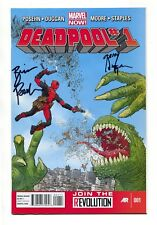 Deadpool #1 (Marvel 2013) SIGNED 2X, Gerry Dugan & Brian Posehn, VF+/NM Fresh!