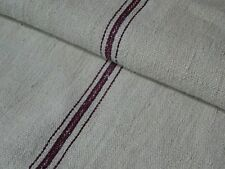 Antique European Feed Sack GRAIN SACK Red Stripe # 10433