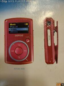 SanDisk Sansa Clip PINK 2 GB FM Digital Media MP3 Player