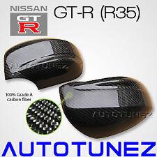 Carbon Fiber Car Side Mirror Cover For Nissan Skyline GTR R35 Nismo Autotunez