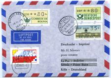 1989 Vier-Länder-ATM-Brief, gelaufene Luftpost-Drucksache, siehe Beschreibung
