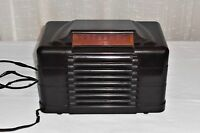 Vintage Setchell Carlson #427 Brown Frog Eye Art Deco Radio for Repair Only