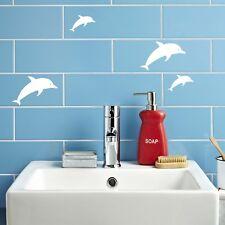 Bathroom Bedroom Tiles Decal Sticker Dolphin Kids Fun Renovation Fish