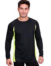Feuchtigkeitsregulierende Lange-Ärmel Herren-Sport-Shirts im Rundhalsausschnitt-Stil
