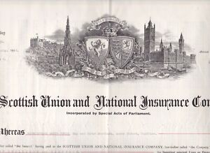 POLICY, THE SCOTTISH UNION & NATIONAL INSURANCE CO, DUMFRIIES RESIDENT, 1903