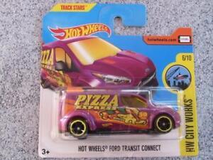 Hot Wheels 2017 #143/365 HW FORD TRANSIT CONNECT pizza van purple HW City Works