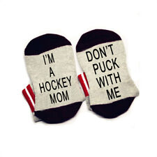 I'm A Hockey Mom Don't Puck With Me cotton elastic comfortable socks