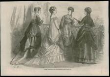 1868 -  Antique Prints FRANCE Paris Fashions for September  (056)