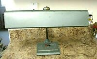 Vintage Art Deco Sightmaster Industrial Steampunk Banker's Green Desk Lamp