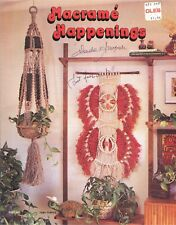 MACRAME HAPPENINGS Pattern Book Plant Hangars Animals Spice Rack Shoes Sandals