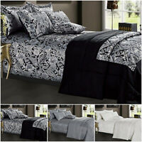 Luxury Jacquard Bedspread 3 Piece Quilted Throw Double & King Modern Bedding Set