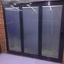 New Aluminium Bi fold Doors inc blinds 3 panels. 2.4m x 2.1 GREY